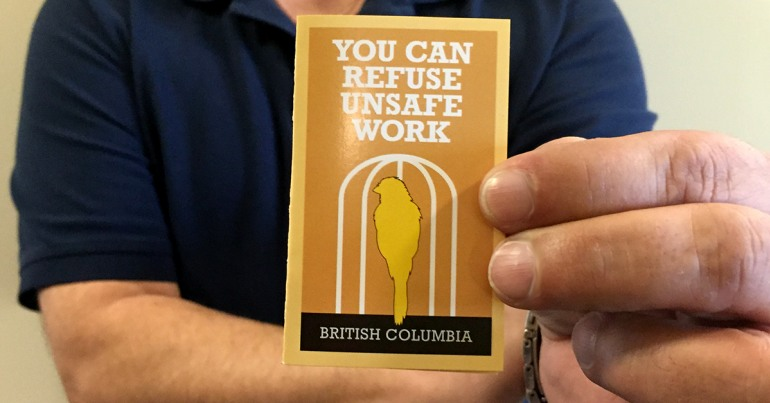 Right to refuse unsafe work card