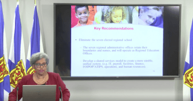 Dr. Avis Glaze Nova Scotia education report / Photo: Nova Scotia Government Facebook page